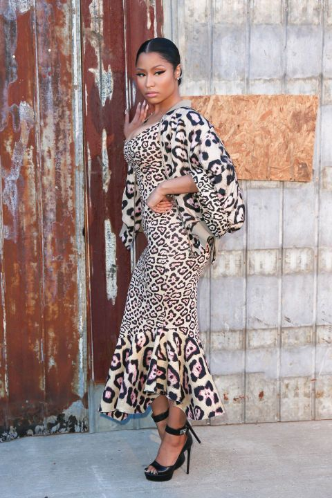 Fashion week's best dressed: Nicki Minaj wears animal printed Givenchy at the fashion house's spring 2016 show in NYC.