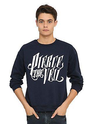 Pierce The Veil Logo Sweatshirt, BLACK
