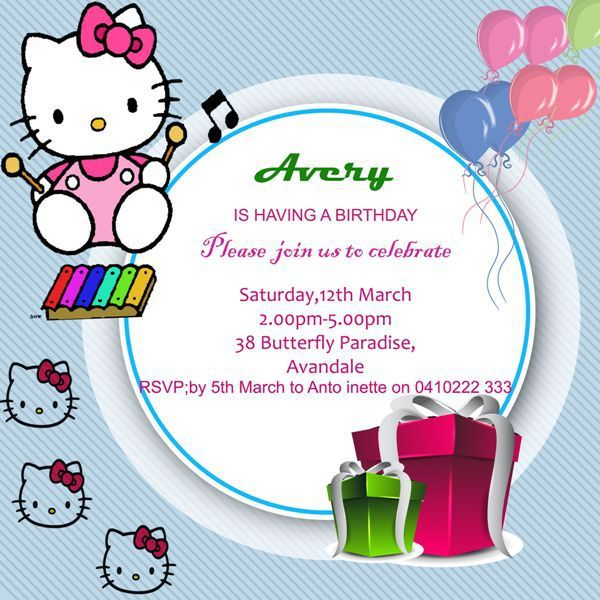 Best Hello Kitty Invitations Images On Pinterest Templates - Free hello kitty birthday invitation templates