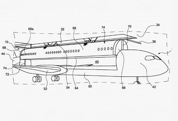 Аэрокосмический гигант Airbus запатентовал концепт съемных кают. Съемный модуль включает в себя пол, верхнюю часть фюзеляжа самолета и торцевые стенки. По замыслу проектировщиков, это позволит сэкономить на стоимости пассажирских перевозок и в перспективе ускорить работу аэропортов.