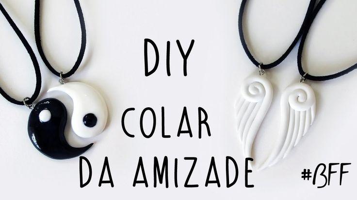 DIY: COLAR DA AMIZADE - Pingente Asas de Anjo & Yin Yang (Friendship Necklace / Charms BFF)