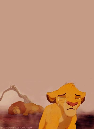 one of the saddest disney moments ever. The Lion King