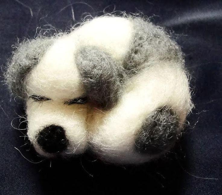 sweet Dog  needle felted miniature beautiful animal toys  handmade #3 #nutka_art #AllOccasion