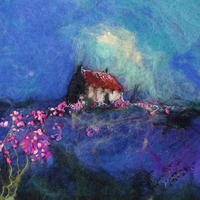 Moy Mackay Felt Painting.