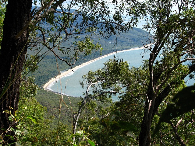 Looking down at Wangetti Beach from the Macalister Range escarpment by tanetahi, via Flickr