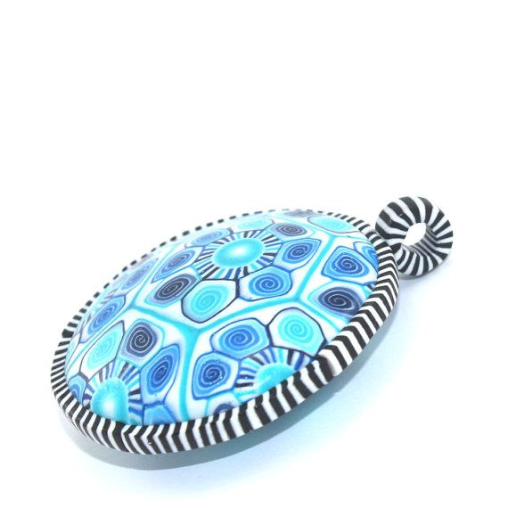 727 best polymer pendant ideas images on pinterest cold elegant pendant in blue spiral and stripes pattern big unique pendant polymer clay pendant unique pendant diameter 5 cm aloadofball Gallery