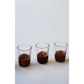 Pahar 7*4,5 cm imbracat in scoarta | Articole imbracate in scoarta