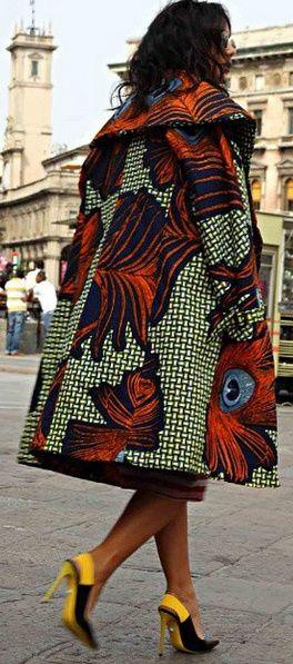 "iandafrica: ""itsafricaninspired: ""Coat : Stella Jeans "" Stunning coat """