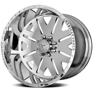 American Force Baus SS8 Polished Custom Truck Wheels & Rims