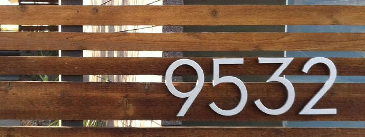 17 best images about house numbers and mailboxes for for Mid century modern address numbers