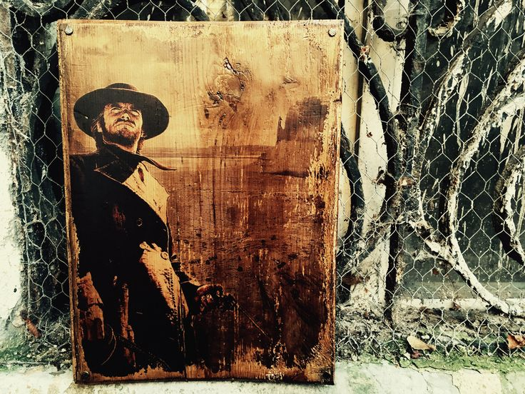 Excited to share the latest addition to my #etsy shop: Clint Eastwood Western Movie Poster Wooden Picture Wall Decor Artwork