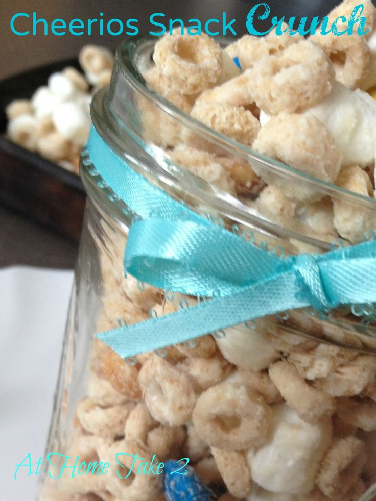 Cheerios Snack Crunch from AtHomeTake2... use pantry leftovers like cheerios, other cereal, peanuts, M's and mini-marshmallows plus white chocolate to make this #AfterSchoolSnack. #snack #kid-friendly