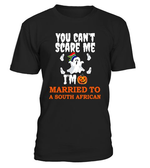 "# Can't Scare Me Married to South African T-shirt Halloween .  Special Offer, not available in shops      Comes in a variety of styles and colours      Buy yours now before it is too late!      Secured payment via Visa / Mastercard / Amex / PayPal      How to place an order            Choose the model from the drop-down menu      Click on ""Buy it now""      Choose the size and the quantity      Add your delivery address and bank details      And that's it!      Tags: Funny Halloween t-shirt…"
