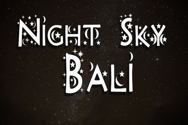 Night Sky of Bali during Nyepi