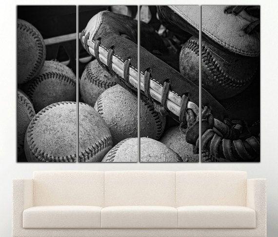 Baseball canvas Baseball print Baseball wall by DecorSolutionsCo
