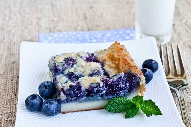 ... this tonight! Japanese blueberry mochi treat made with rice flour