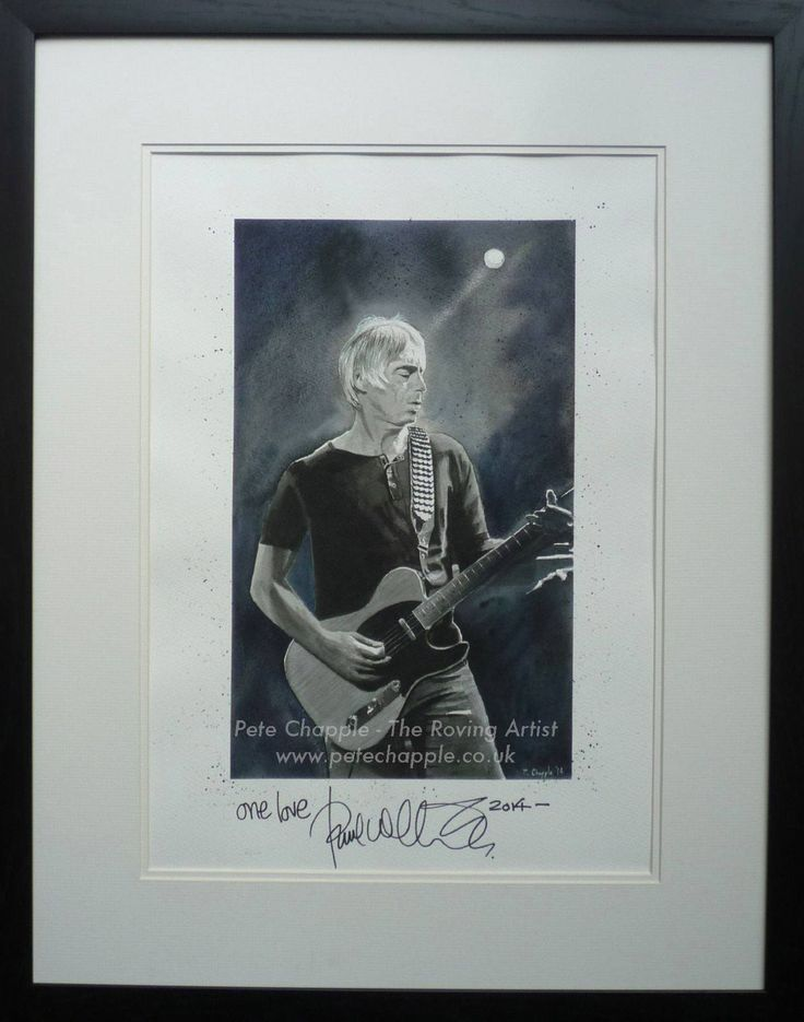 Paul Weller News One of a kind signed Paul Weller watercolour painting up for grabs in aid of Be One Percent charity!