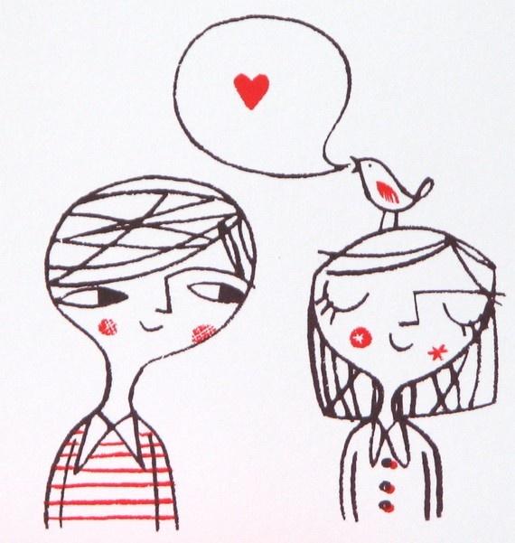 Love bird print by Lisa Stubbs