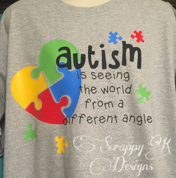 Autism T-shirt for Autism Awareness Autism Mom T-shirt Autism Dad T-Shirt (20.00 USD) by ScrappyKDesigns
