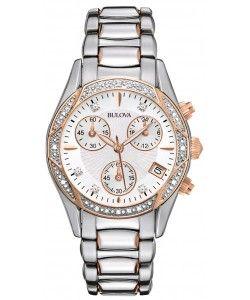 Bulova Diamond Ladies Anabar Chronograph Watch (98R149)