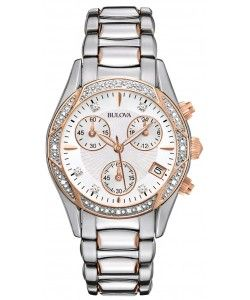 Bulova Diamond Ladies Anabar Chronograph Watch (98R149)