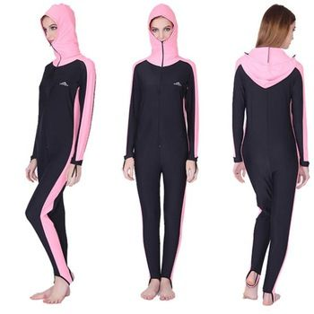 lycra swimsuit with hood for women,one piece jellyfish diving suit ...