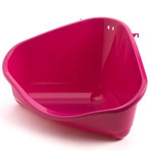 R30006х3шт Moderna ПЕТС КОРНЕР туалет угловой для грызунов, большой 49Х34,6Х26 см, розовый