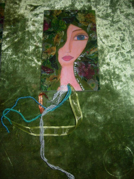 The Goddess in You Mixed media handmade laminated by eltsamp, $12.00