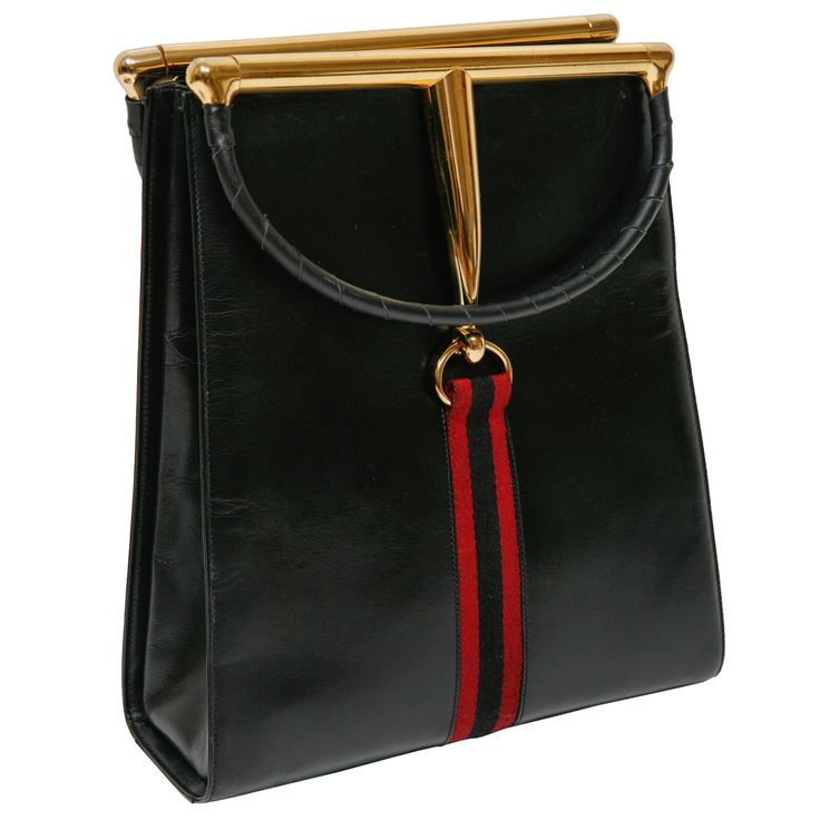 Vintage Gucci Handbag   From a unique collection of antique and modern trunks and luggage at http://www.1stdibs.com/furniture/more-furniture-collectibles/trunks-luggage/