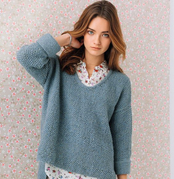 modele pull a tricoter femme