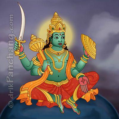 बुध Budha THE HINDU GOD  और वे एक कालीन या एक गरुड़ अथवा शेरों वाले रथ की सवारी करते हैं। बुध बुधवार के मालिक हैं। आधुनिक हिन्दी, तेलुगु, बंगाली, मराठी, कन्नड़ और गुजराती में इसे बुधवार कहा जाता है; मलयालम और तमिल में इसे बुधन कहते हैं।