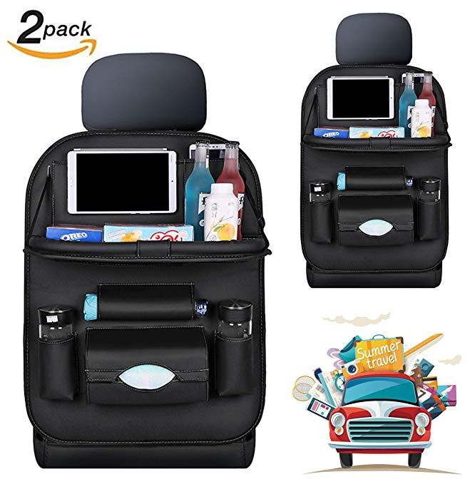 Car Backseat Organizer With Dining Table And Tablet Holder Pu