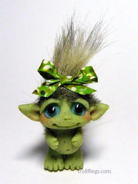 OOAK Tiny Moss Goblin Trollfling Troll Cami by от Trollflings