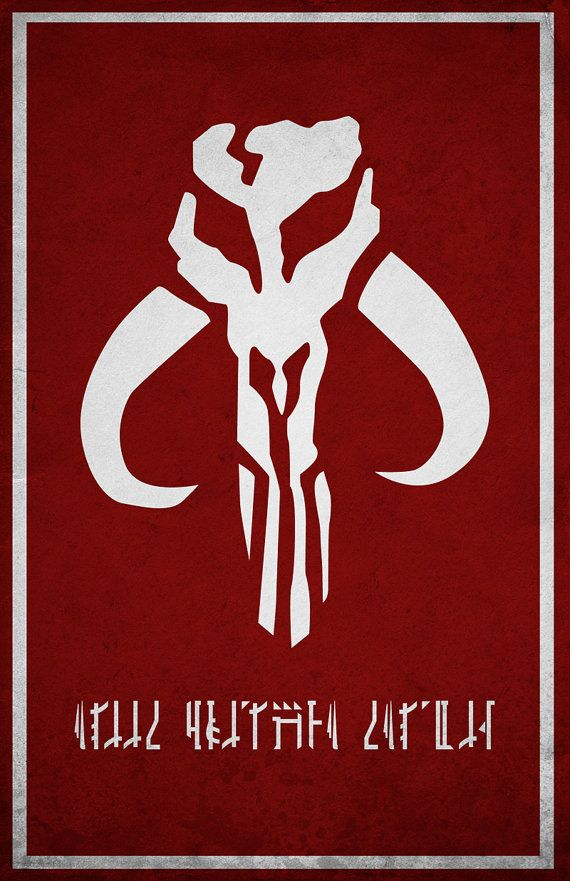 "Mandalorian. The stuff that's written is the mandalorian writing. It says ""Aliit Ori'shya Tal'din"" it means ""family is more than blood"