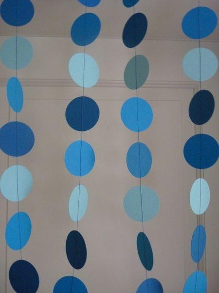 ♥ Papier-Girlande blau ♥ von Herzenssache   auf DaWanda.com