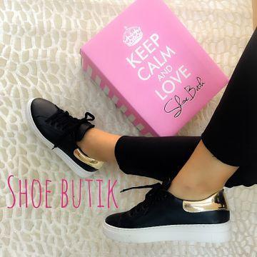 Ringo Siyah Altın Sneakers