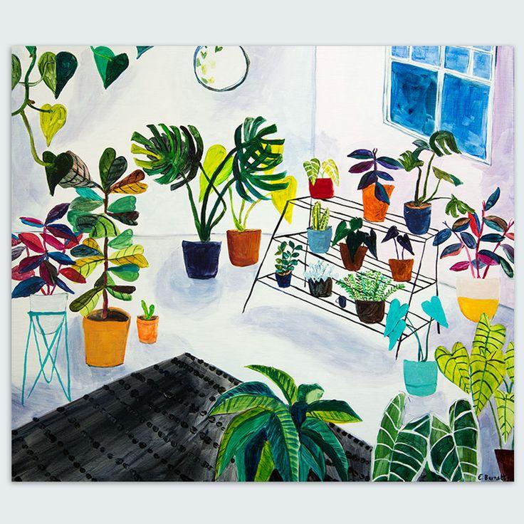 Original Artwork titled, 'My Plant Collection' by Elizabeth Barnett, 2015.