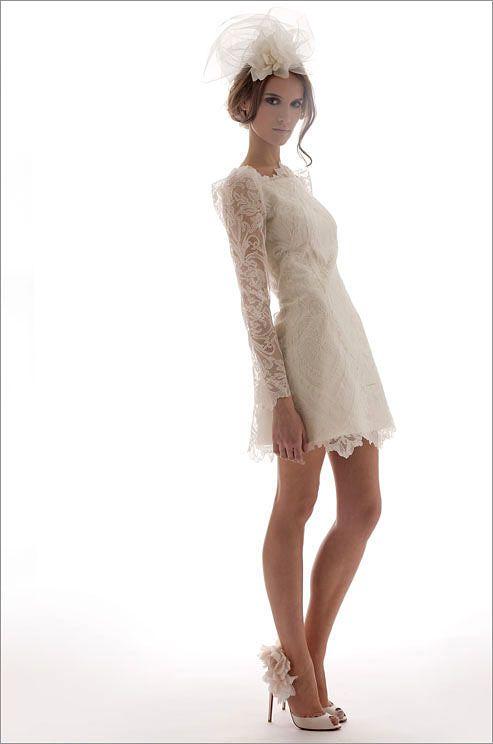 Elizabeth Fillmore short wedding dress, Spring 2012