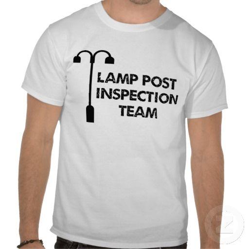 Lamp Post Inspection Team Geocaching Tshirt