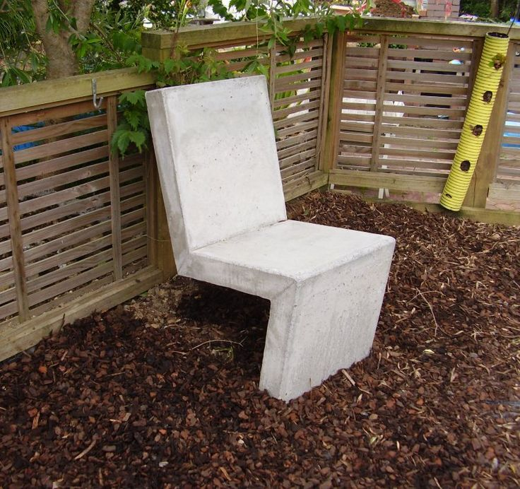 How to make a concrete chair