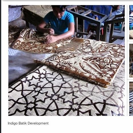 Indigo batik production