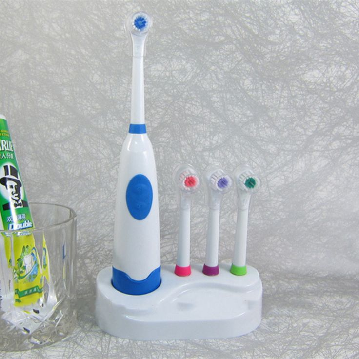 4 Colors 2016 hot sale POC Multi Adults Children Electric Toothbrush sets timer holder Wholesale Oral Hygiene 4 head brush