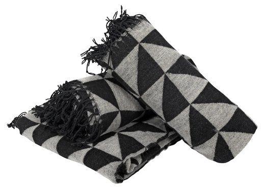 Huopa NATTFIOL 130x200 jacquard musta | JYSK