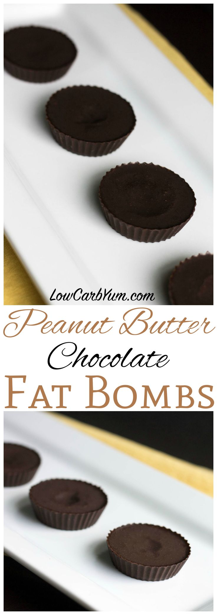 Are you a lover of chocolate and peanut butter? Satisfy your craving with this low carb chocolate peanut butter fat bomb recipe. A perfect ketogenic snack!