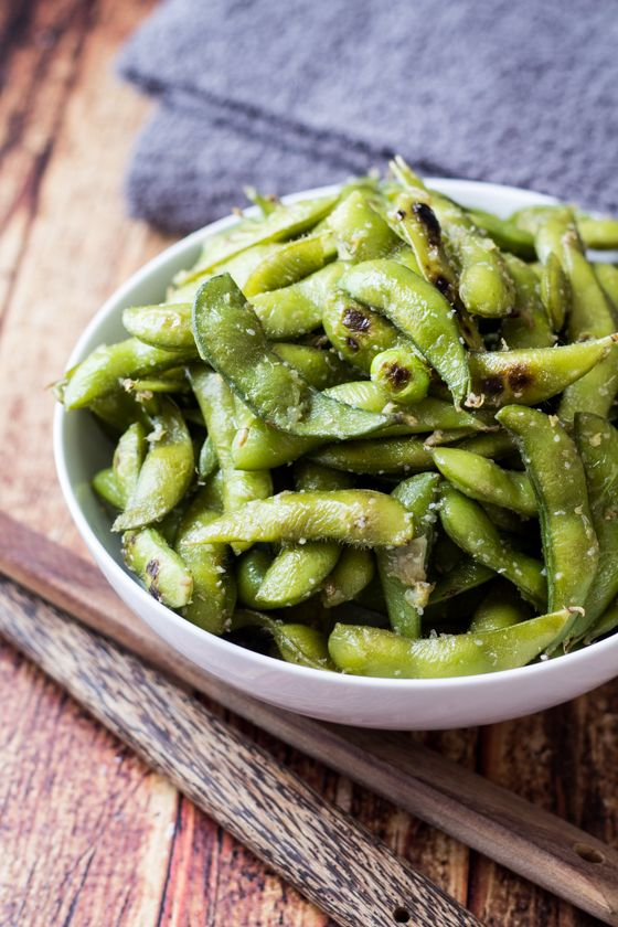 Here is a new recipe garlic & ginger edamame recipe. It's healthy for you, and packed with vitamins.