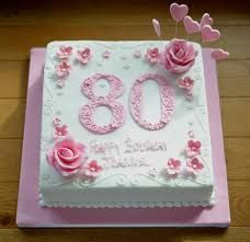 Image result for 80 th birthday cake