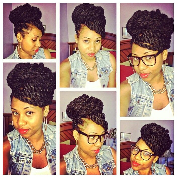 Marley Twists updo. Super cute!