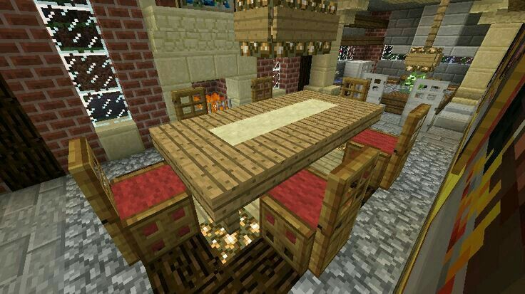Minecraft table minecraft ideas pinterest minecraft for Dining room designs minecraft
