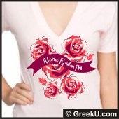 Alpha Epsilon Phi  - rose shirt