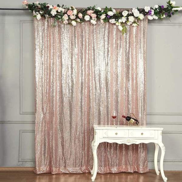 8 Feet X 8 Feet Blush Sequin Backdrop Curtain In 2020 Sequin